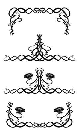 Design elements style Art Nouveau Stock Vector - 10766446