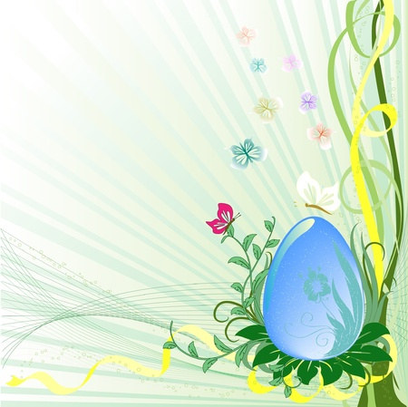Easter background with egg  Vector