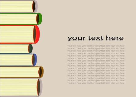 Illustration of books Vector