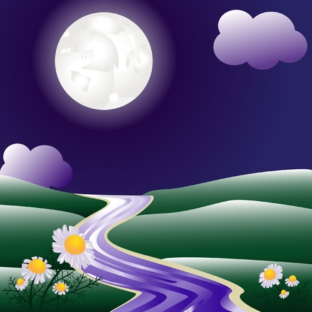 Summer night Vector