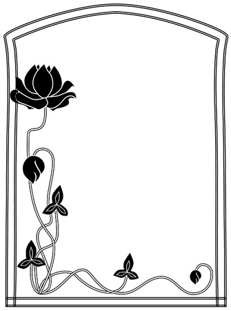 Frame style Modern black-and-white Stock Vector - 10766441