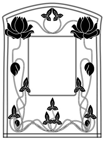 Frame style Modern black-and-white Vector