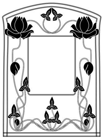 Frame style Modern black-and-white Vector
