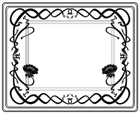 Frame style Modern black-and-white