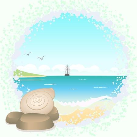 ferry boat: Sea landscape