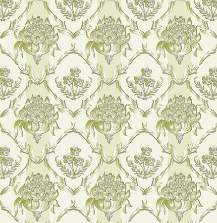 Abstract damask background for design use Illustration