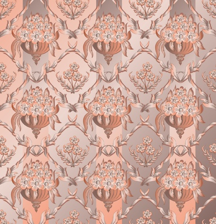 Abstract damask background for design use Illustration