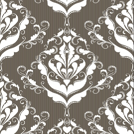 Abstract damask background for design use Vector
