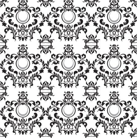 シームレスな白黒パターン  イラスト・ベクター素材