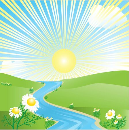 Summer landscape Stock Vector - 10766458