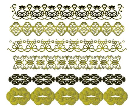 Set of vintage patterns Vector