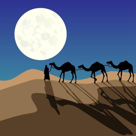 Night caravan Stock Vector - 10736443