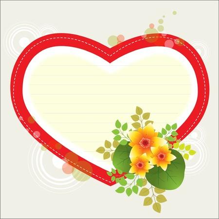Biglietto di auguri di San Valentino, illustrazione vettoriale Archivio Fotografico - 10814068