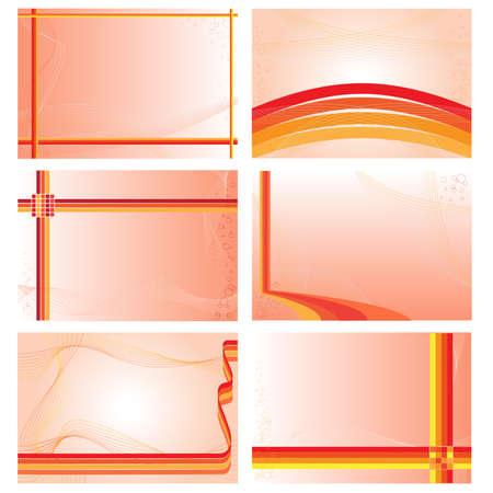 copy paste: Set of six visit cards templates