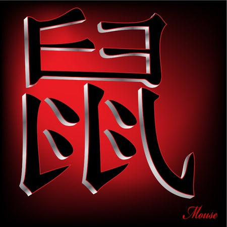 zodiak: Mouse  - China Zodiak Vector Illustration