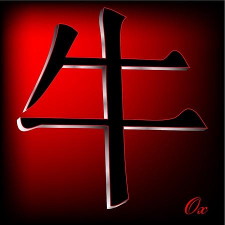 Ox - China Zodiak Vector Illustration Stock Vector - 10814036
