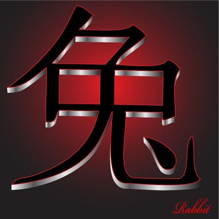 zodiak: Rabbit - China Zodiak Vector Illustration
