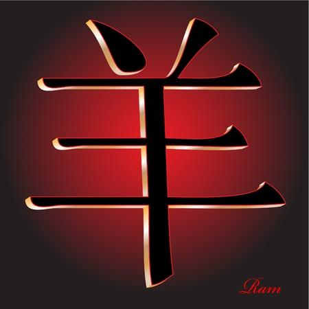 zodiak: Ram - China Zodiak Vector Illustration
