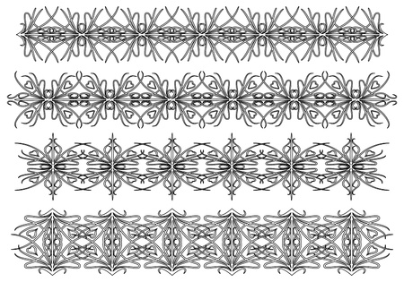 Set of vintage patterns Stock Vector - 10814047