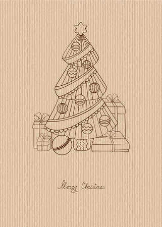 Xmas tree with gifts Stock Vector - 11012170
