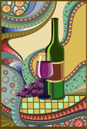 claret red: Vidriera del vino