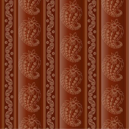 Paisley pattern, seamless Vector