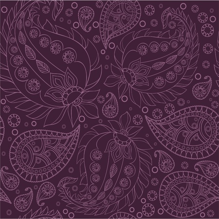 Paisley pattern, seamless Vector