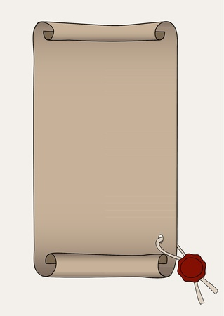 edicto: Ilustración de papel sellado con cera roja
