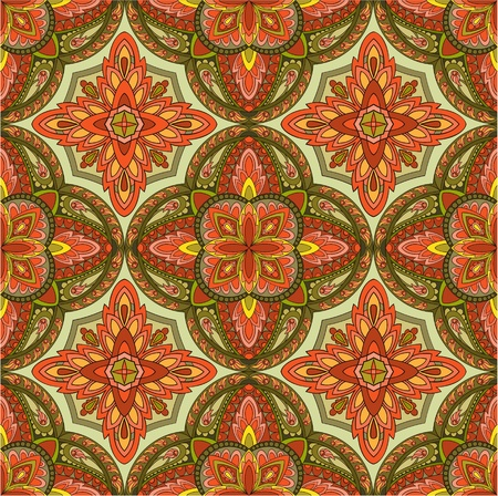 Seamless colorful vintage background Vector