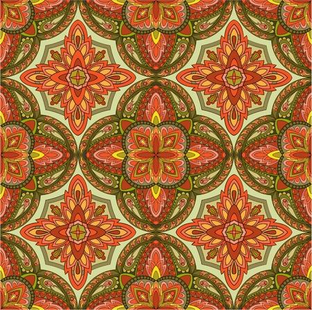 arabesque wallpaper: Seamless sfondo colorato d'epoca Vettoriali
