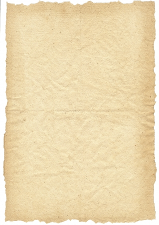 Real ancient paper for background use Stock Photo