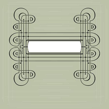 Frame modern stylized