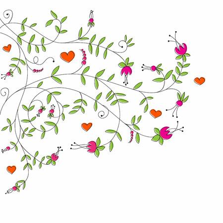 Line art Valentine Illustration