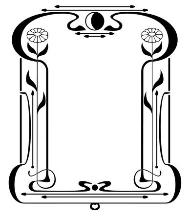 art frame: Frame like Art Nouveau