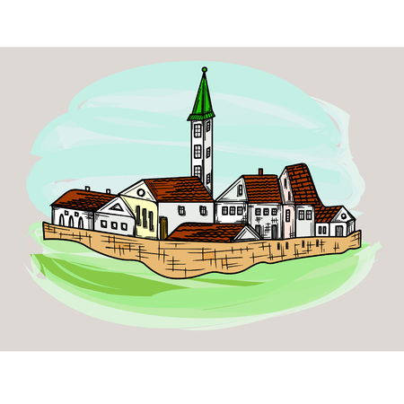 Old City Illustration