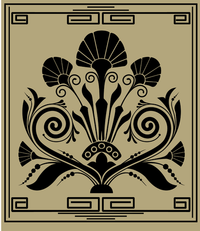 artnouveau: Vintage pattern, vector illustration
