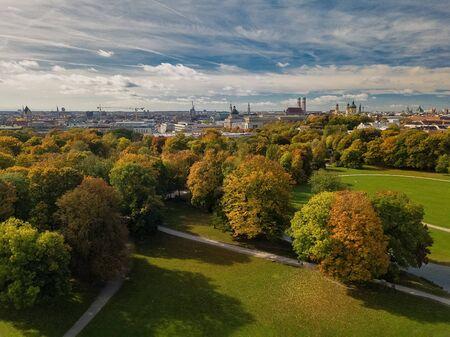 Beautiful colors in a park in Munich.
