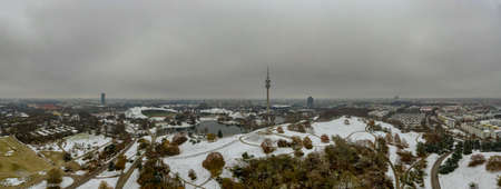 View of the television tower of Munich in Bavaria in the wintertime. 写真素材 - 150847363