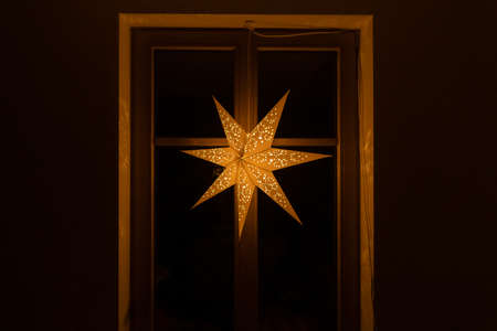 Typical star for lightning and decoration during the winter time for Christmas. The star is meant to represent the Star of Bethlehem, and is lit up on the first Sunday of Advent.