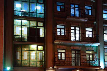 bilding: attractive night bilding offices inside