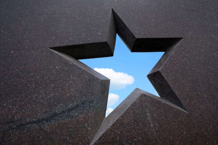 granite star frame with blue sky and cloud inside