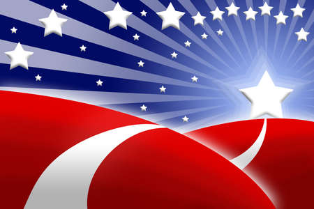 american flag stylized as abstract attractive background photo