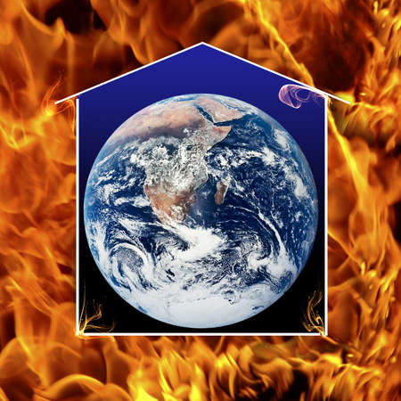 It is not too late to save the earth. Planet protect with house. Stock Photo - 11313053