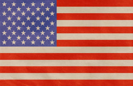 paperboard: american flag drawn on the paperboard Stock Photo