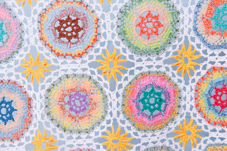 Attractive Handmade crochet fabric pattern  photo