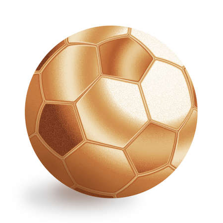 Bronze football ball illustration. Isolated on white background. Stock Illustration - 12594650