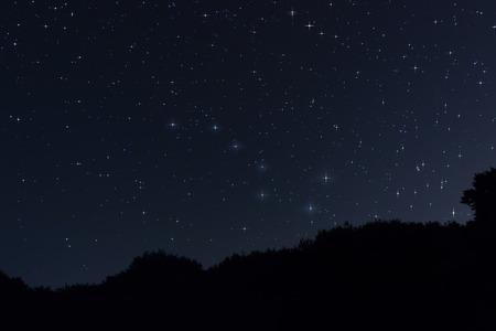 Starry night Ursa Major,Big Dipper constellation Beautiful night sky Archivio Fotografico