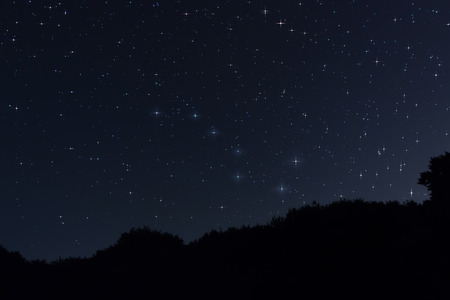 Starry night Ursa Major,Big Dipper constellation Beautiful night sky 版權商用圖片