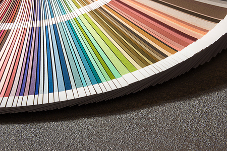 color chart: Color card, Color guide closeup, Color Chart, Color Swatch Stock Photo