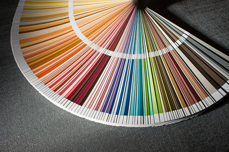 Color card, Color guide closeup, Color Chart, Color Swatch Stockfoto